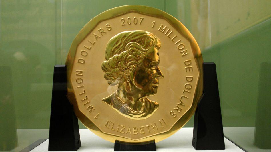 Die 100 Kilogramm schwere Goldmünze «Big Maple Leaf» (Archiv)