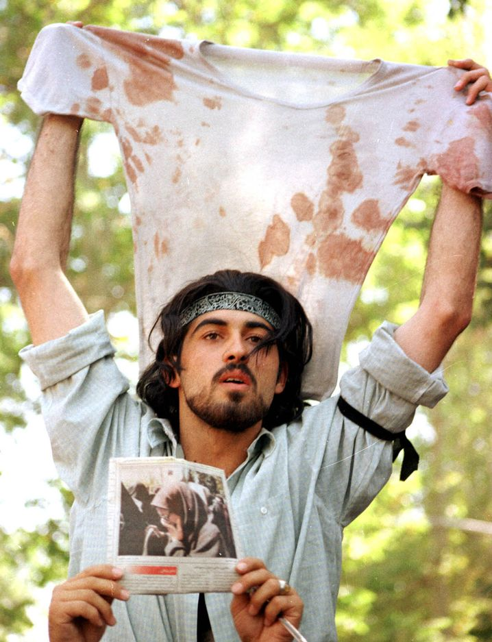 Student Batebi bei der Revolte 1999: Symbolfigur des Protests