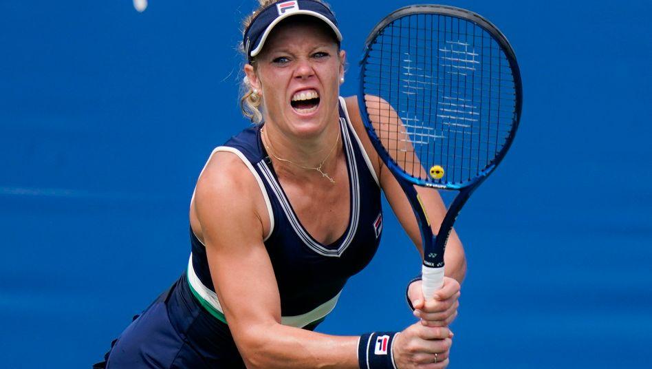 Im Einzel in der ersten Runde ausgeschieden, im Doppel Finalistin: Laura Siegemund