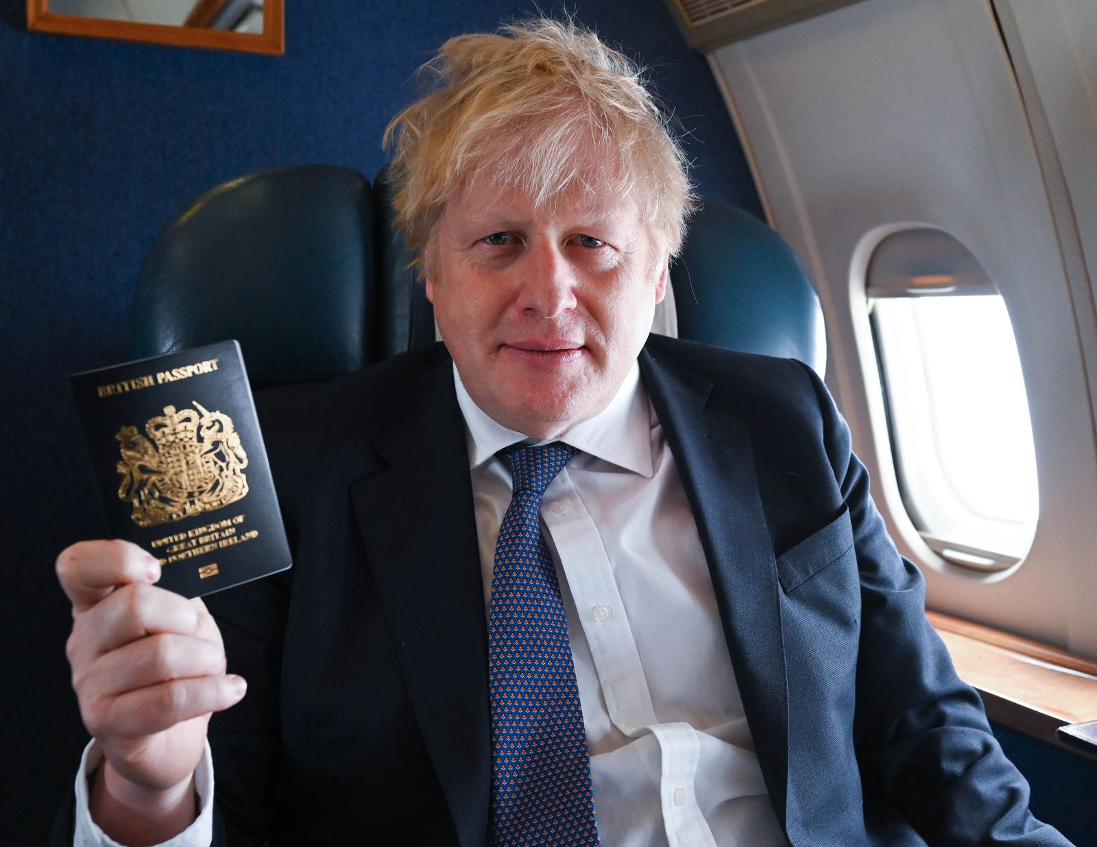 Boris Johnson new Blue Passports