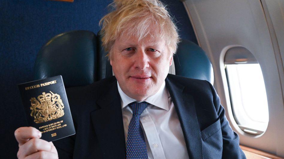 Wer den richtigen hat, kann bleiben: Premier Boris Johnson mit einem britischen Pass