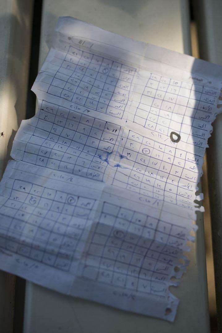 Masoud Aqil's prison calendar