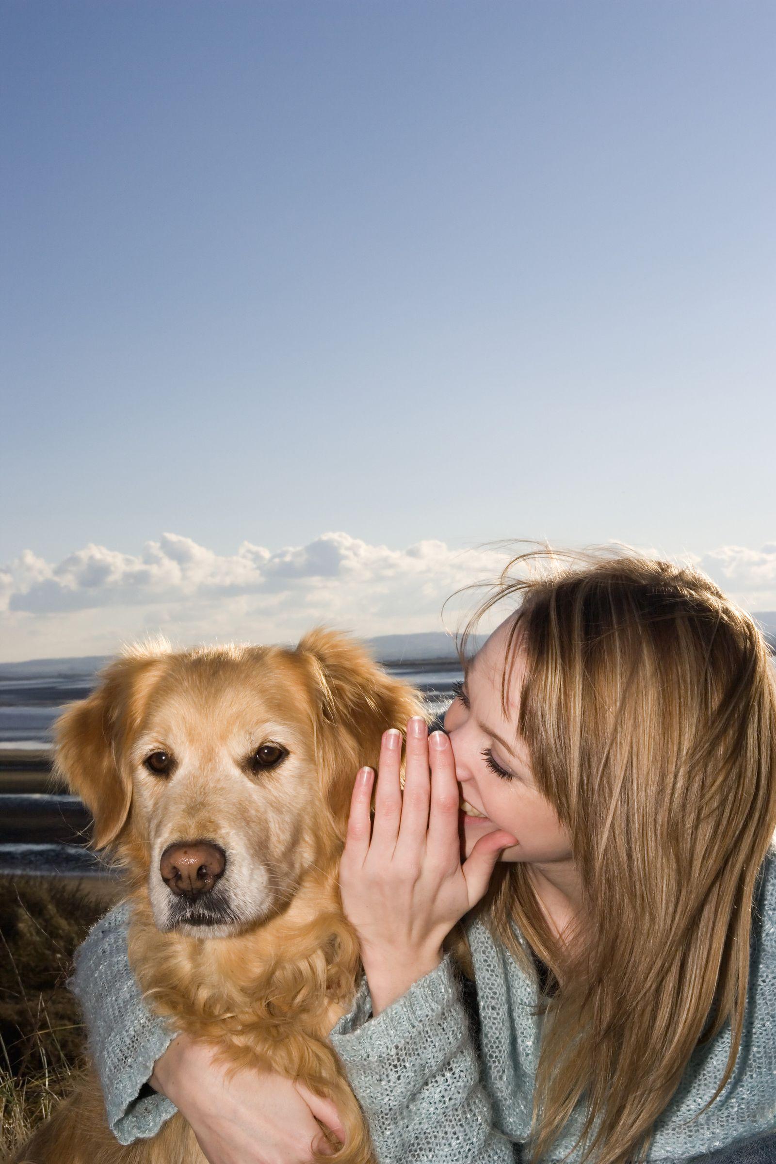 NICHT MEHR VERWENDEN! - SYMBOLBILD Hund/ Mensch/ Sprache