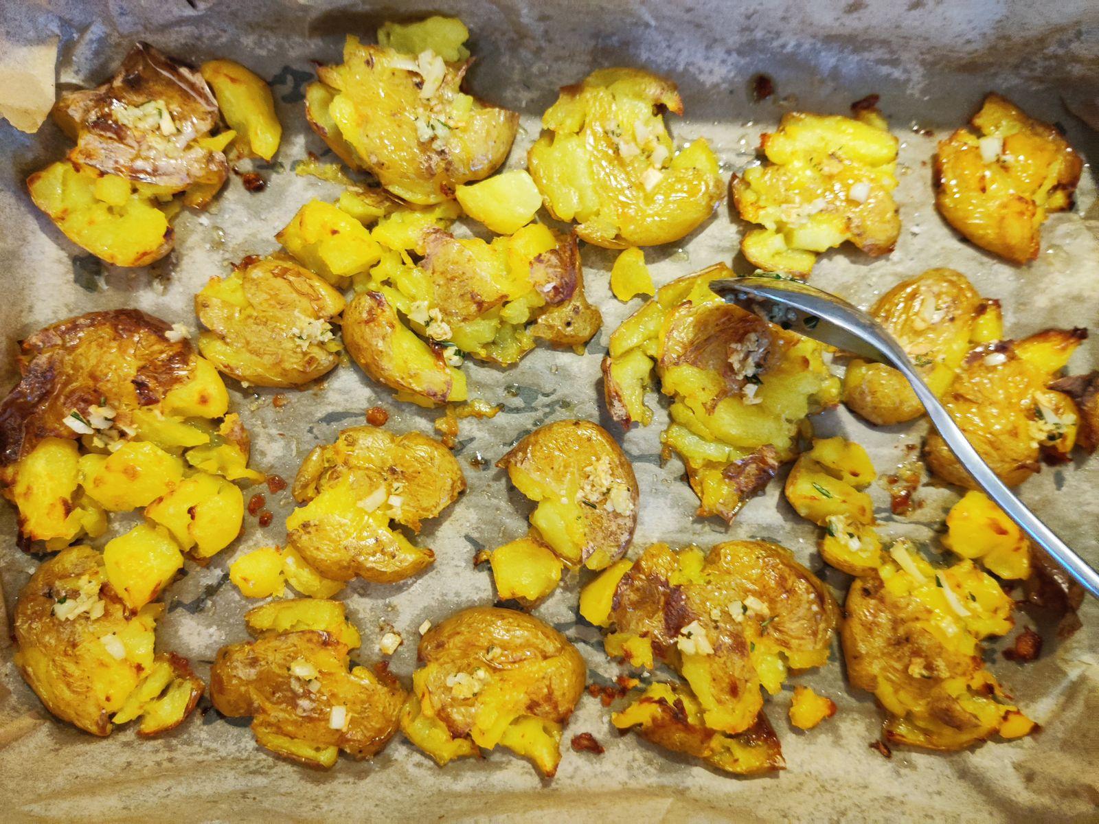 Kochen ohne Kohle / Crushed Potatoes