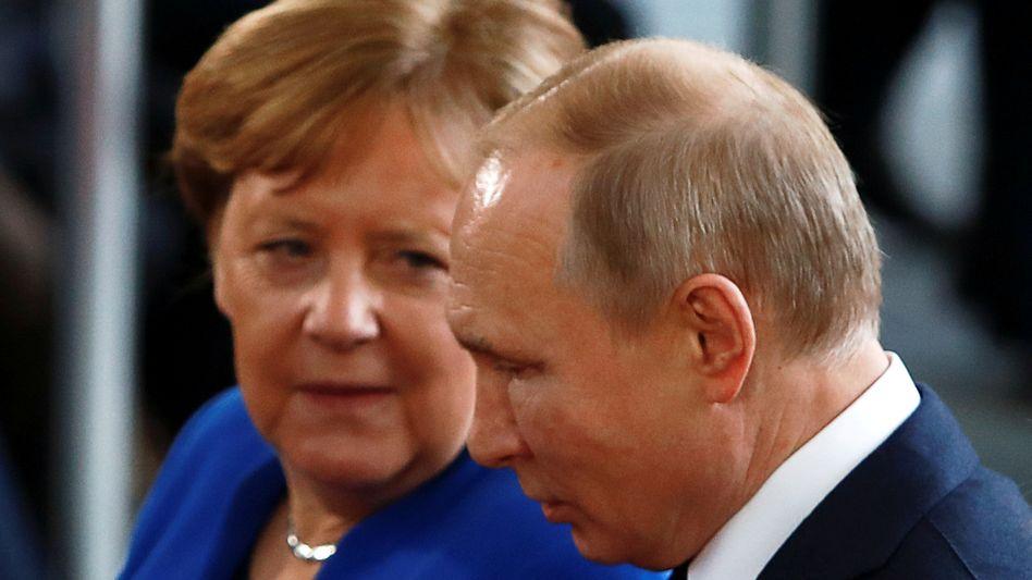 Angela Merkel, Wladimir Putin (Archivbild)