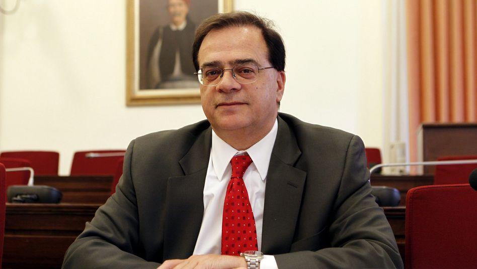 Ex-Finanzminister Gikas Hardouvelis: Nie mehr als 9999 Euro überwiesen