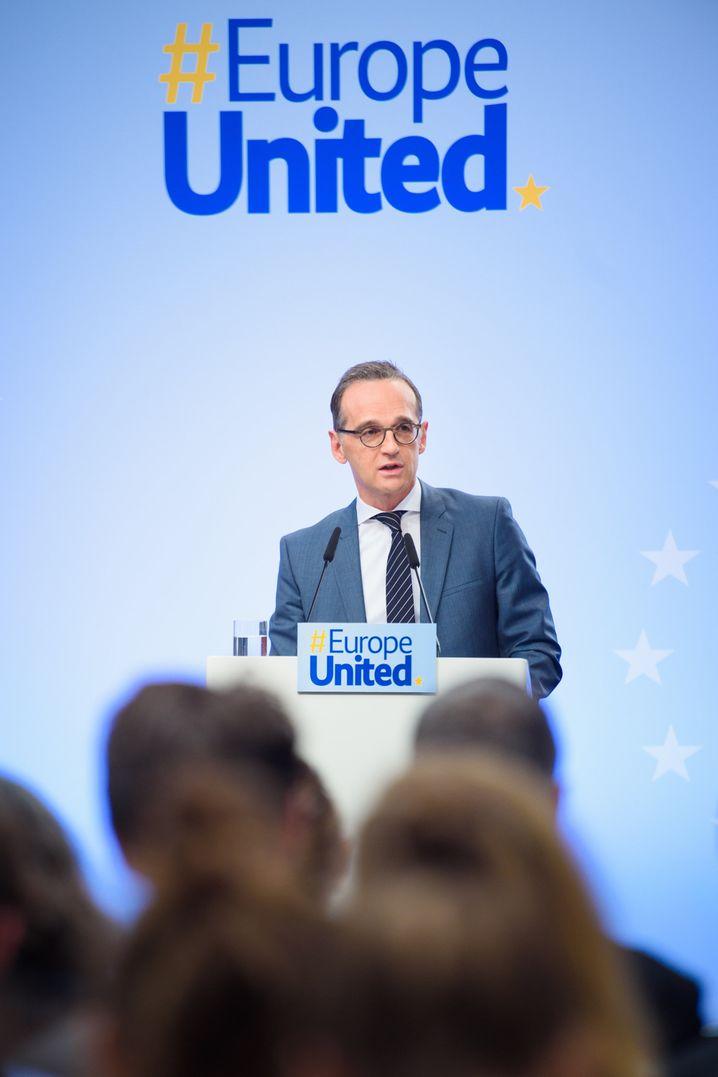 Maas auf der Veranstaltung von Europe United