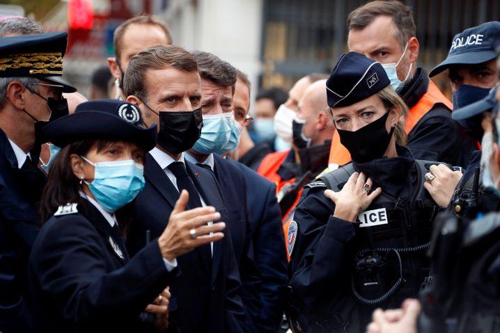 Präsident Macron in Nizza