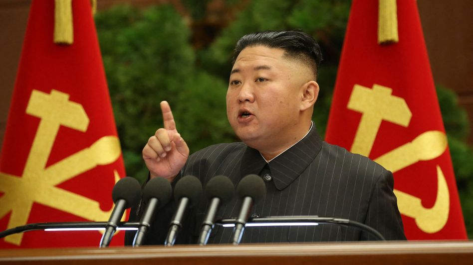 Kim Jong Un bei einem Parteikongress Ende Juni