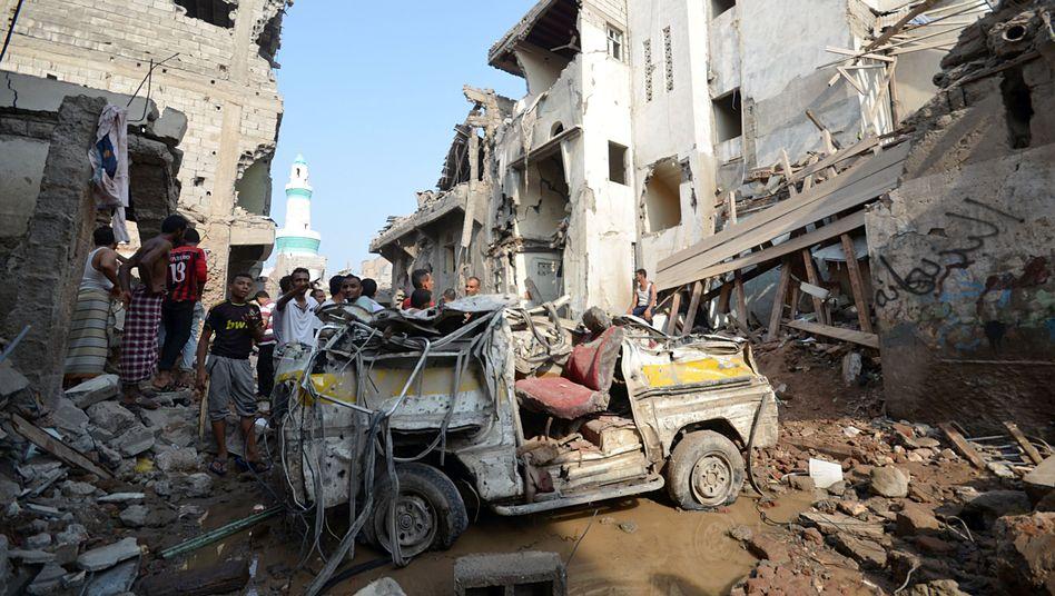 Luftangriff in der Provinz Hudajda