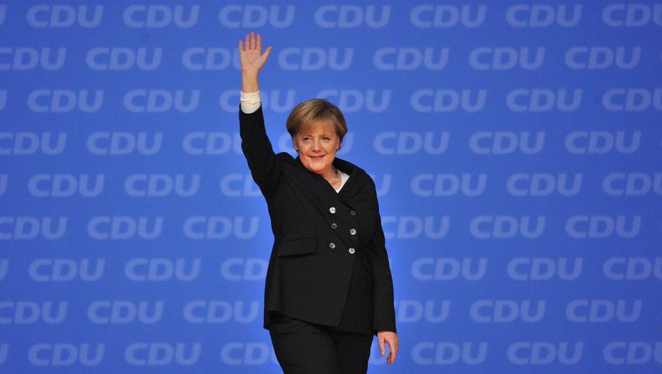 CDU-Chefin Merkel: 10 Minuten Beifall für ihre Rede