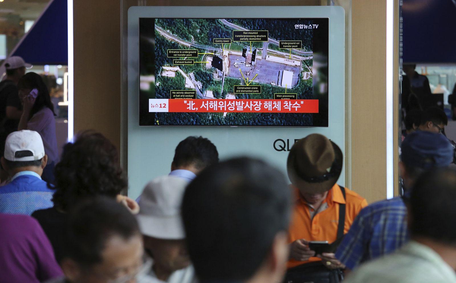 South Korea North Korea Dismantling Rocket Facility