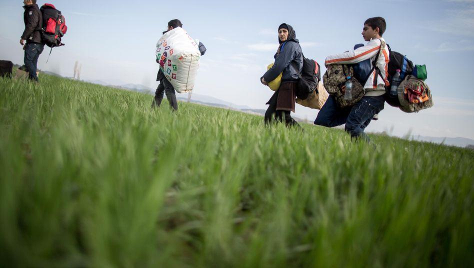 Flüchtlinge aus Afghanistan in Idomeni