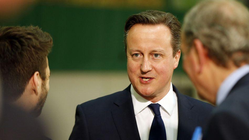 Premier David Cameron: Klar vor Labour