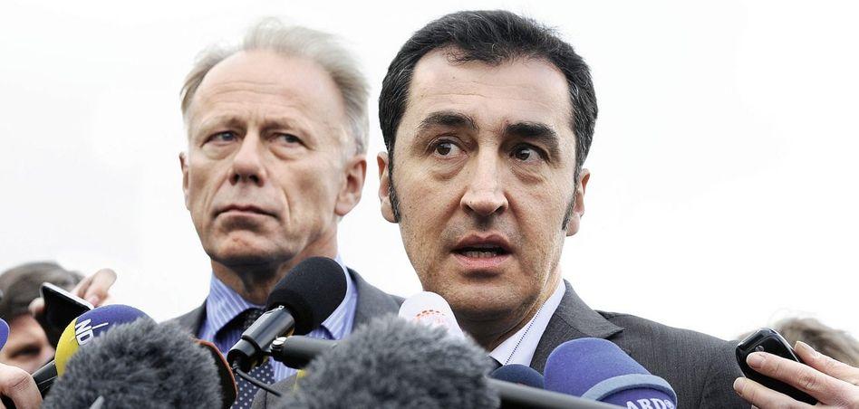Grünen-Fraktionschef Trittin, -Parteichef Özdemir