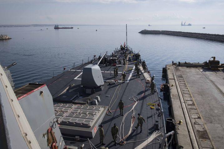 US-Zerstörer im Mittelmeer