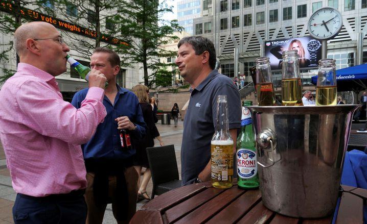 Feierabend im Londoner Bankenviertel