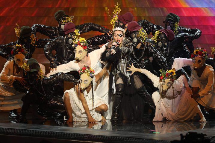 Madonna bei ihrem ESC-Auftritt: In Deutschland nicht ganz so erfolgreich