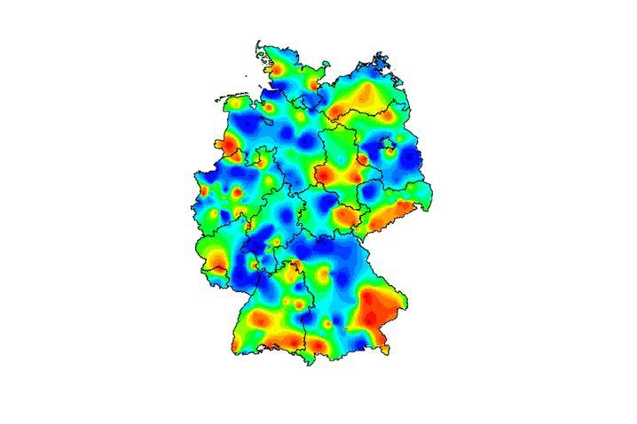 Übersicht über Krankheitsfälle in Deutschland, generiert anhand der wöchentlichen RKI-Zahlen