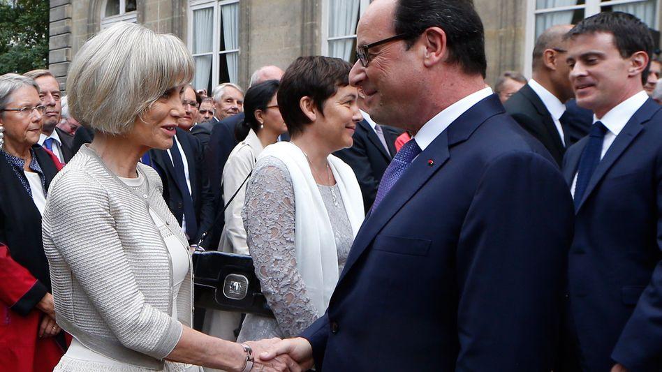 """Elisabeth Guigou und Frankreichs Präsident Hollande: """"Hochqualifizierte Kandidatin"""" für den Posten des EU-Außenbeauftragten"""