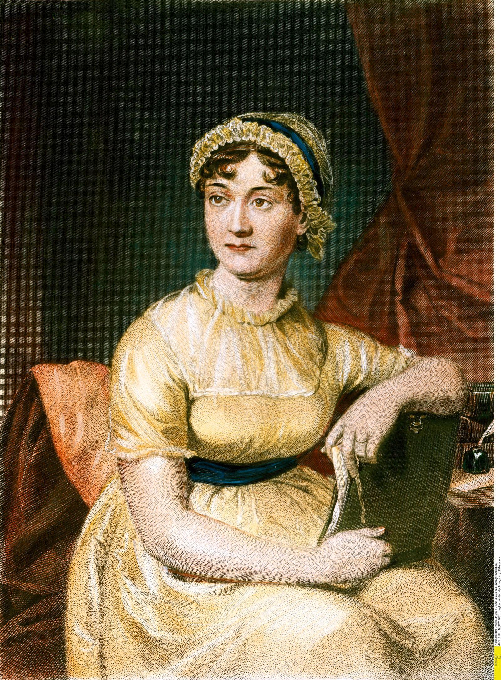 JANE AUSTEN (1775-1817). English novelist: stipple engraving, 19th century.