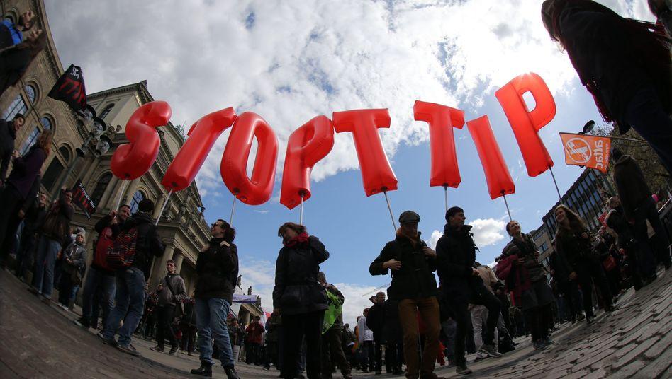 TTIP-Gegner in Hannover