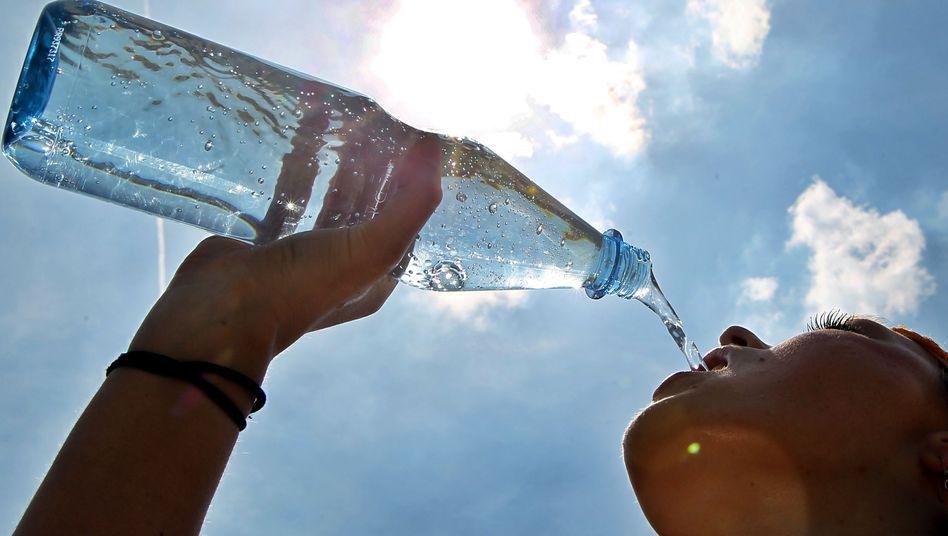 Viel Wasser wird bei Temperaturen über 30 Grad empfohlen