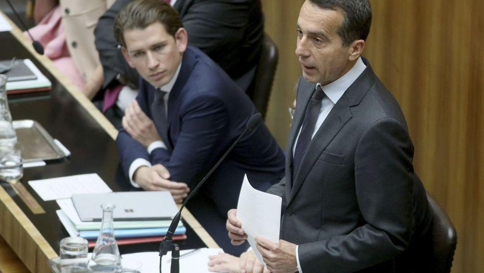 Außenminister Sebastian Kurz (l.), Kanzler Christian Kern