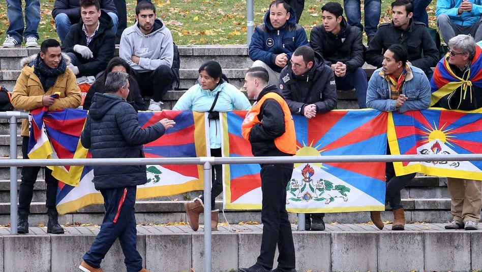 Tibet-Protest in Mainz