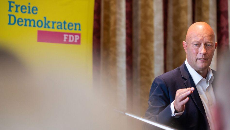 Thomas Kemmerich (Archivbild): Seine Wahl in Thüringen hat offenbar zu einigen Parteiaustritten in der FDP geführt