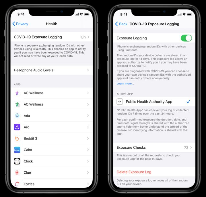 Entwürfe von Apple: So könnten die Contact-Tracing-Apps aussehen