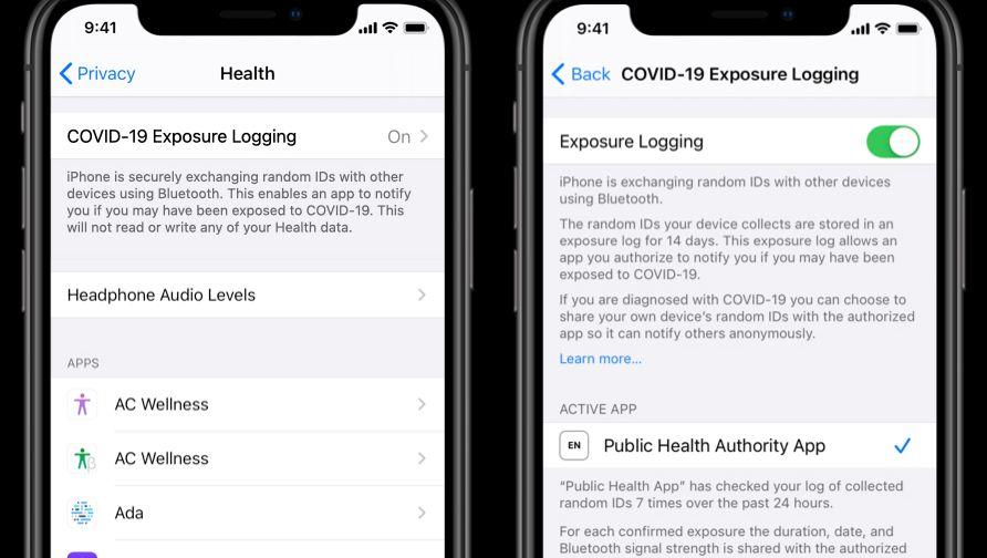 So sieht die Funktion zum Kontakt-Tracing auf iPhones aus: Ohne Zustimmung des Anwenders geht nichts