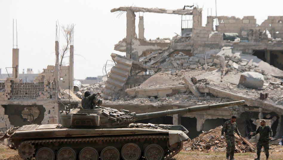 Syrische Armee nahe Damaskus