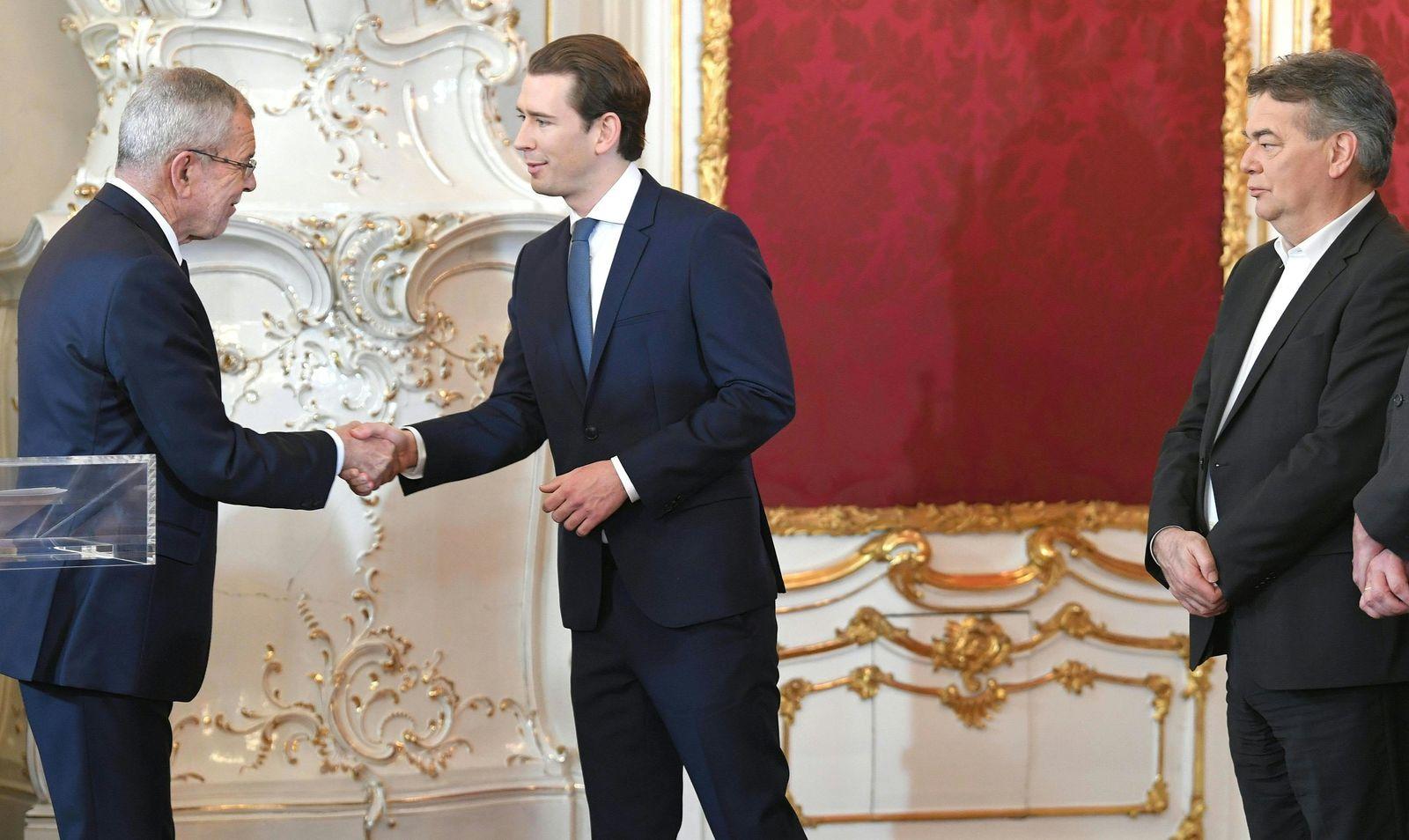 Regierungsvereidigung Österreich Sebastian Kurz