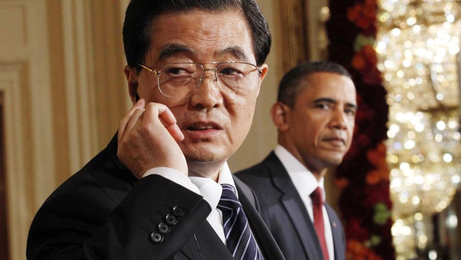 Chinas Präsident bei Obama: Hu hört weg