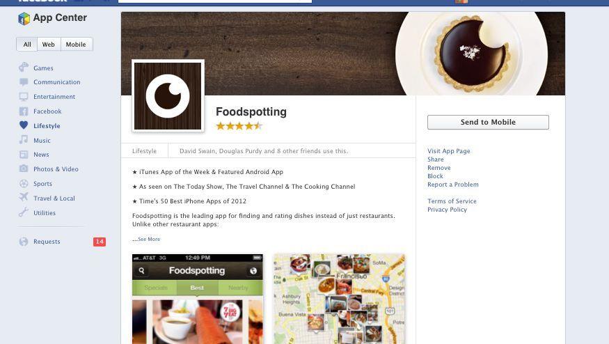 Facebook App Leiste Unten