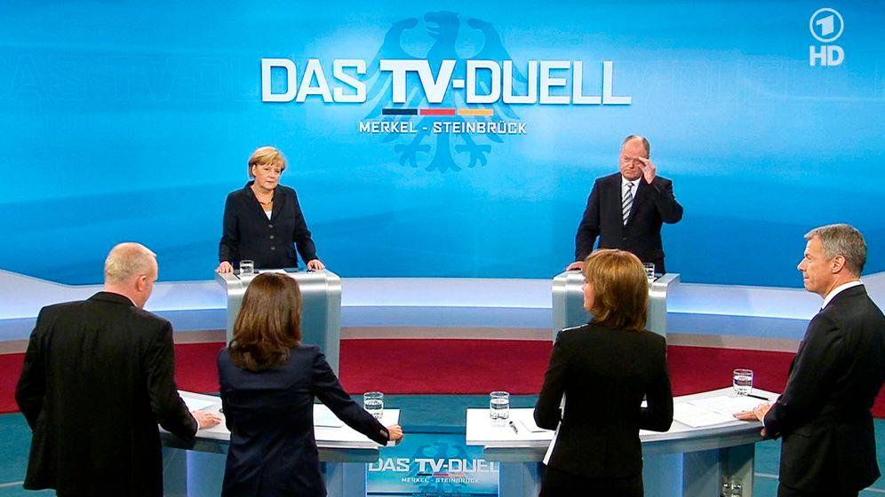 TV-Duell: Merkel gegen Steinbrück