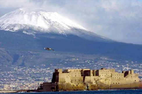 Mount Vesuvius towers over the Gulf of Naples in southern Italy. It is considered one of the most dangerous volcanoes in the world.