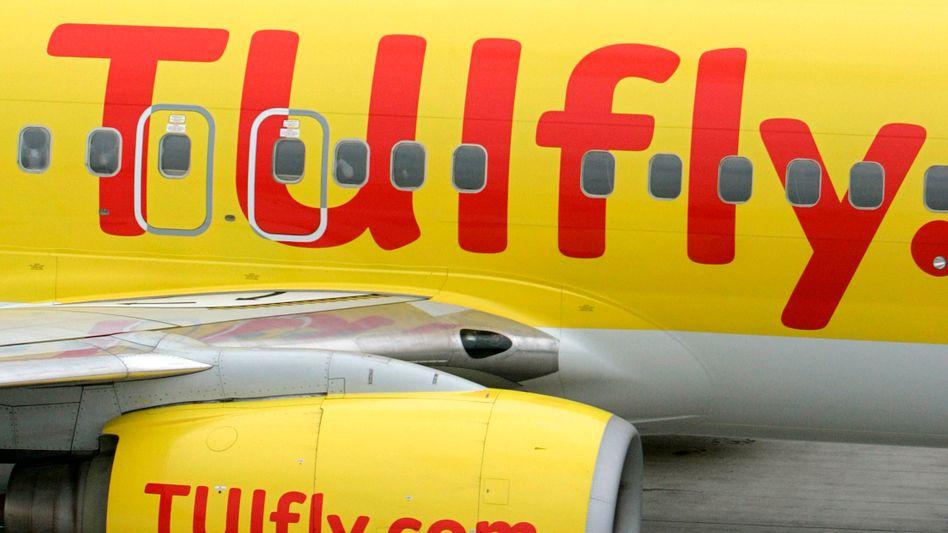 TUIfly-Maschinen auf dem Flughafen Leipzig/Halle