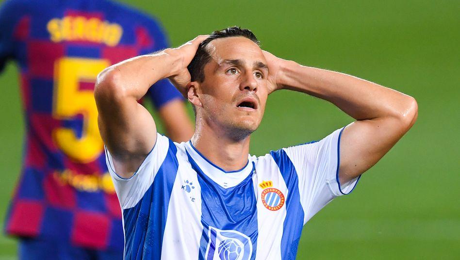 Espanyols Bernardo Espinosa: Künftig in Liga zwei