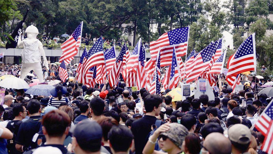 Protestanten in Hongkong im Sommer 2019: Angst vor stärkerem chinesischem Einfluss