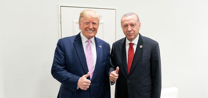 Trump (l.) und Erdogan (im Juni in Japan): Zuletzt war die Stimmung weniger gut