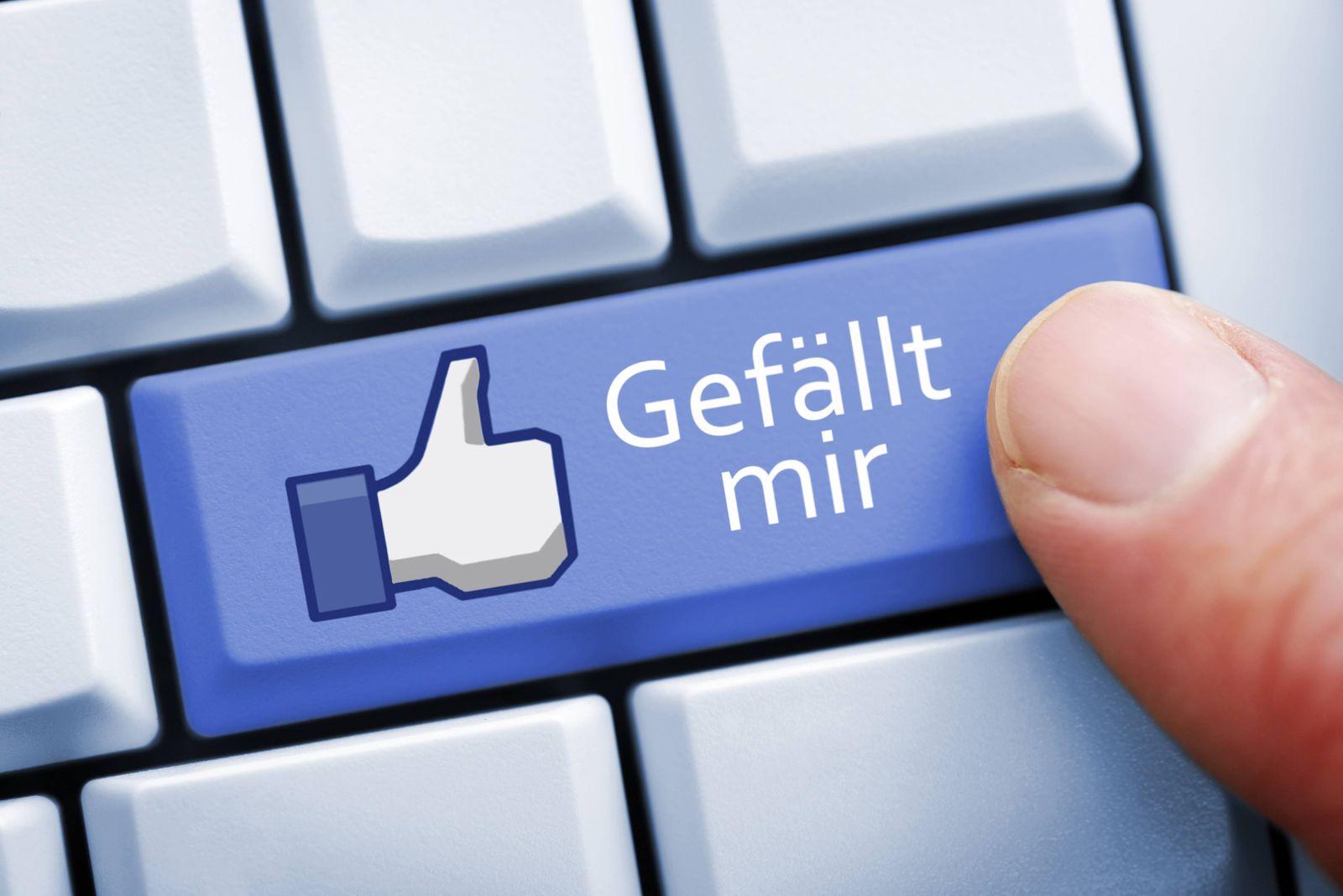 EINMALIGE VERWENDUNG Facebook/ Daumen/ like