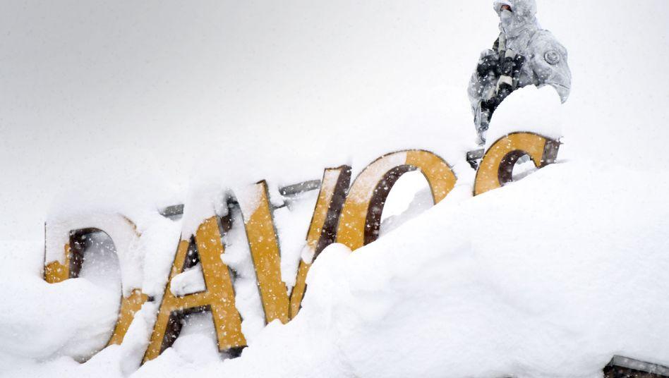 Davos vor Beginn des Weltwirtschaftsforums