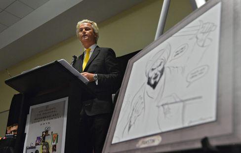 Wilders bei Karikaturen-Wettbewerb: Polizei bringt Gäste in Sicherheit
