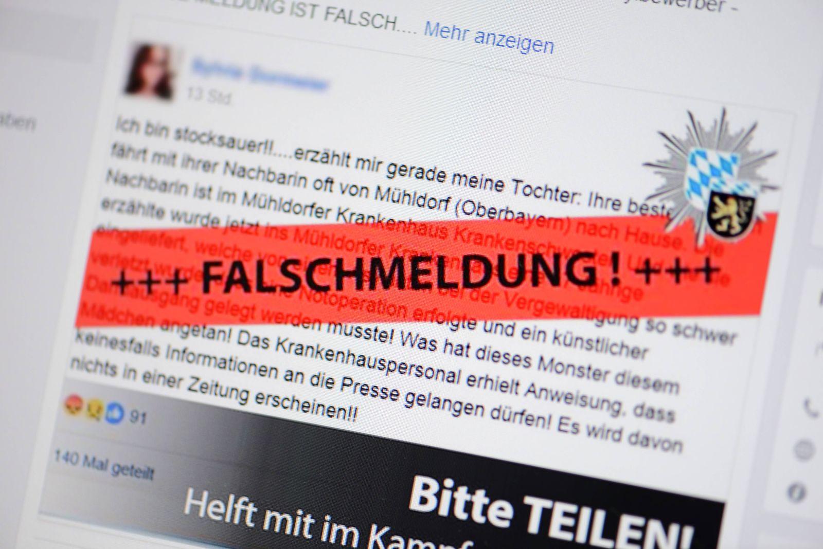 EINMALIGE VERWENDUNG Fake News