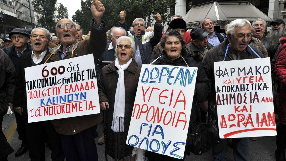 Proteste im März in Athen: Stabile Mehrheit für Syriza