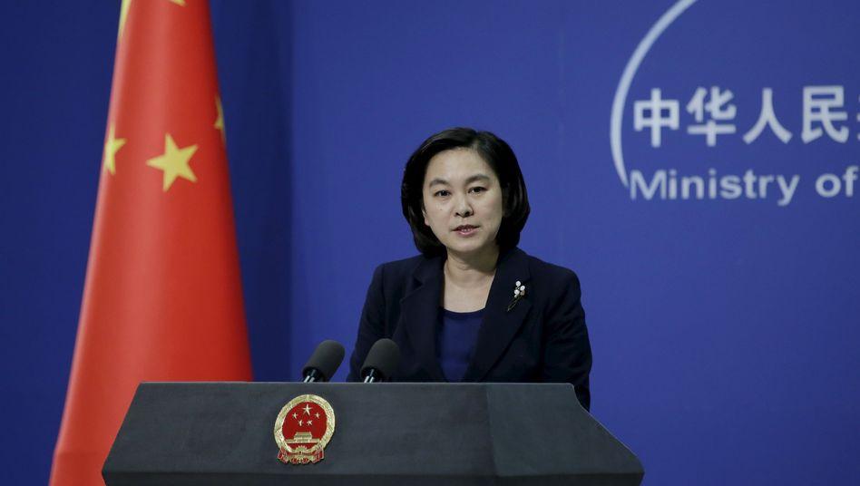 Hua Chunying, Sprecherin des chinesischen Außenamts