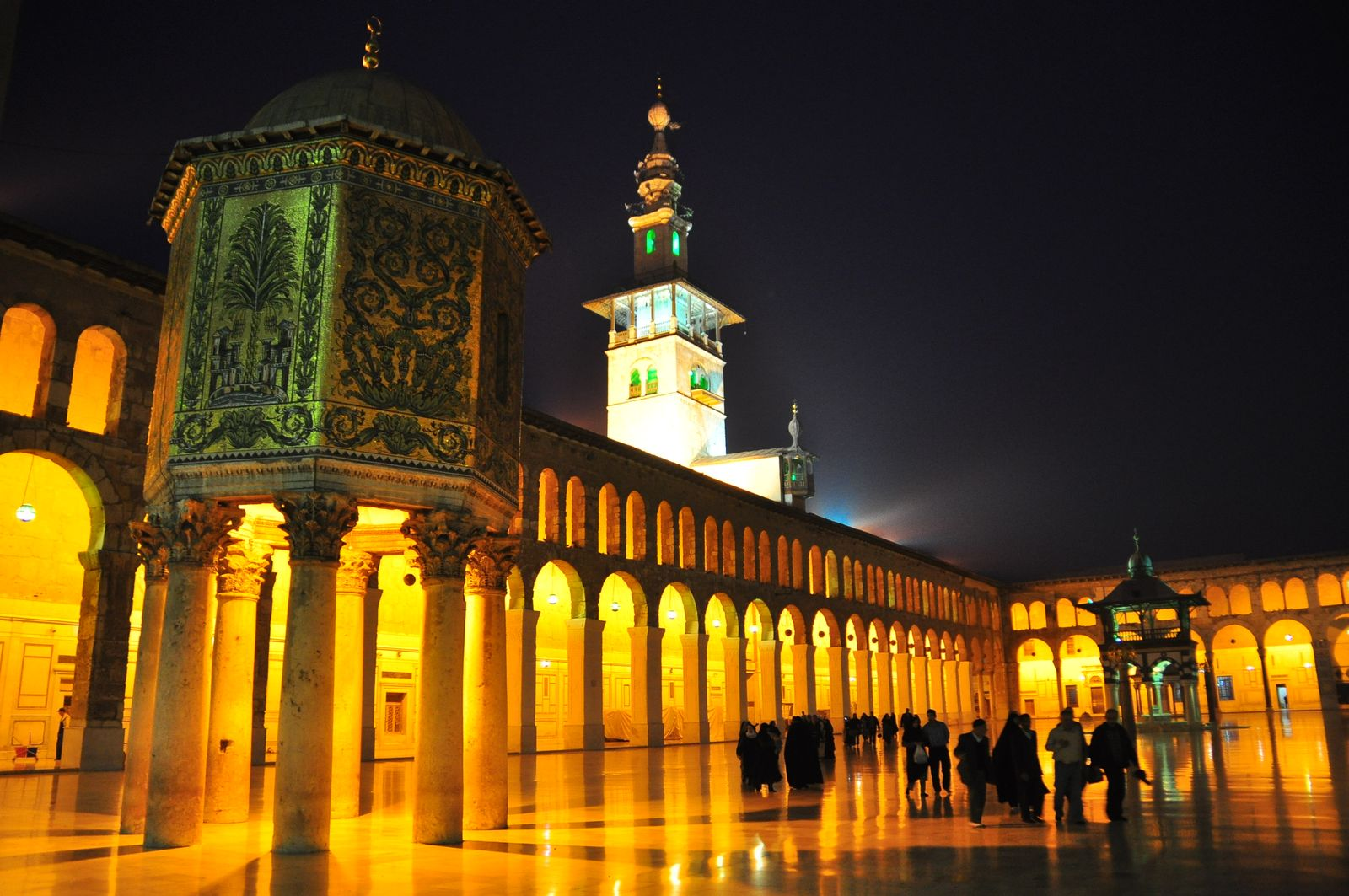 EINMALIGE VERWENDUNG Omayyaden-Moschee Syrien / Damaskus / Umayyaden