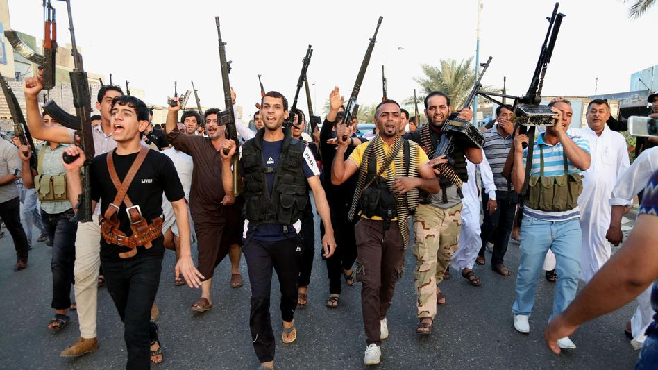 Schiitische Kämpfer im Irak: Iran und USA erwägen Unterstützung für Isis-Gegner